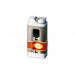 Зажигалка Colibri Precision satin gunmetal / satin silver \ CB QTR-111003-E