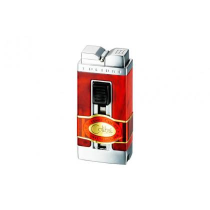 Зажигалка Colibri Precision marbled brown/silver satin \ CB QTR-111004-E