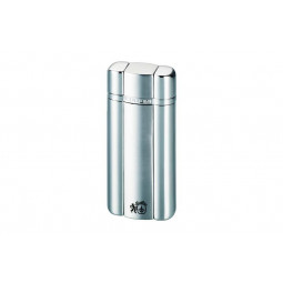 Зажигалка Colibri Heritage satin silver / polished silver \ CB QTR-331002E