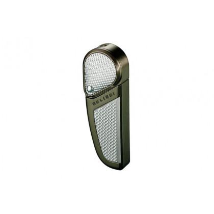 Зажигалка Colibri Revolution Satin Gun metal / Satin Silver Accent \ CB QTR-397003E