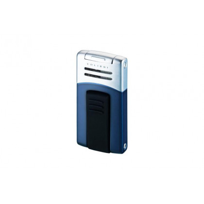 Зажигалка Colibri Syndicate Blue Matte / Satin Silver \ CB QTR-412004E