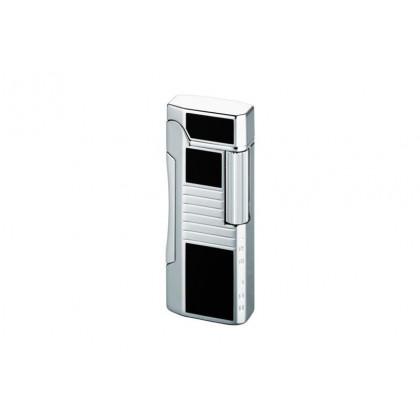 Зажигалка Colibri Primo Black Lacquer / Polished Silver \ CB QTR-600001E