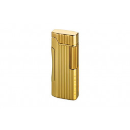 Зажигалка Colibri Primo Polished Gold Lined \ CB QTR-600003E