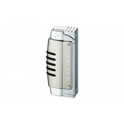Зажигалка Colibri Crossfire satin gunmet / polished silver \ CB QTR-119003E