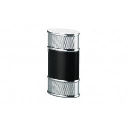 Зажигалка Colibri Virtuoso Black Lacquer / Silver Hobnail \ CB QTR-851006E