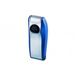 Зажигалка Colibri VENOM satin silver / blue mette \ CB QTR-999005E