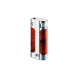 Зажигалка Colibri Accord Burlwood Satin / Polish Silver \ CB LTR-044004E