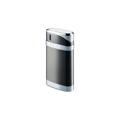 Зажигалка Colibri Essex Satin Gunmetal / polished silver \ CB LTR-078003E