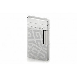 Зажигалка Givenchy Dia silver Shiny/white 4G logo with cigarette pouch \ GV G17-2010