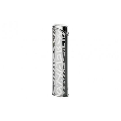 Зажигалка Givenchy Dia silver Shiny/white 4G logo with cigarette pouch \ GV G36-2010
