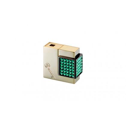 Зажигалка Windmill Gemmy Crystal Gold polich/crystal emerald \ WM W07-1004