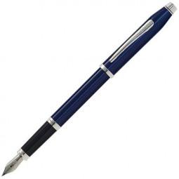 Перьевая ручка Cross Century II Translucent Blue Lacquer Rhodium Plated \ AT0086-103MS