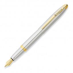 Перьевая ручка FranklinCovey Lexington, хром с золотистой отделкой \ FC0016-3MS