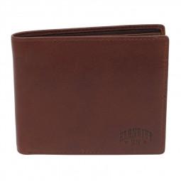Бумажник KLONDIKE Dawson, натуральная кожа в коричневом цвете, 12 х 2 х 9,5 см \ KD1120-03
