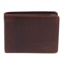 Бумажник KLONDIKE DIGGER «Angus», натуральная кожа в темно-коричневом цвете, 12 х 9 x 2,5 см \ KD1041-03