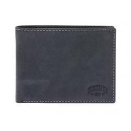 Бумажник KLONDIKE Yukon, натуральная кожа в черном цвете, 13 х 2,5 х 10 см \ KD1117-01