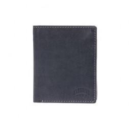 Бумажник KLONDIKE Yukon, натуральная кожа в черном цвете, 10 х 2 х 12,5 см \ KD1111-01