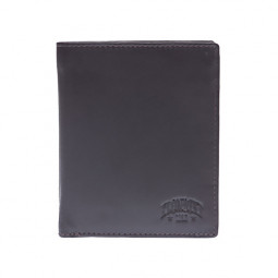 Бумажник KLONDIKE Claim, натуральная кожа в коричневом цвете, 10 х 1,5 х 12 см \ KD1102-03