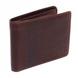 Бумажник KLONDIKE Yukon, натуральная кожа в коричневом цвете, 11 х 2 х 9,5 см \ KD1113-03