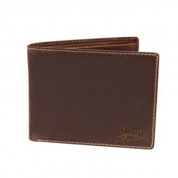 Бумажник KLONDIKE Yukon, натуральная кожа в коричневом цвете, 13 х 2,5 х 10 см \ KD1117-03
