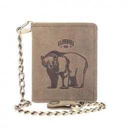 Бумажник Klondike «Wayne Bear» в коричневом цвете \ KD1019-02