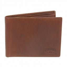 Бумажник KLONDIKE Dawson, натуральная кожа в коричневом цвете, 13 х 1,5 х 9,5 см \ KD1121-03