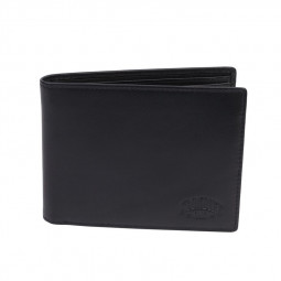 Бумажник KLONDIKE Claim, натуральная кожа в черном цвете, 12 х 2 х 9,5 см \ KD1105-01
