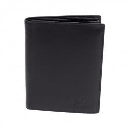 Бумажник KLONDIKE Claim, натуральная кожа в черном цвете, 10,5 х 1,5 х 13 см \ KD1100-01