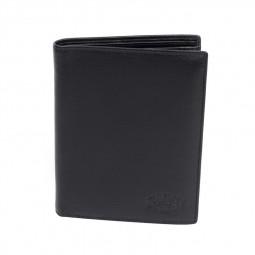 Бумажник KLONDIKE Claim, натуральная кожа в черном цвете, 10 х 1,5 х 12 см \ KD1102-01