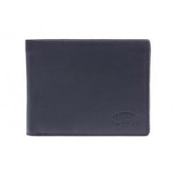 Бумажник KLONDIKE Dawson, натуральная кожа в черном цвете, 12,5 х 2,5 х 9,5 см \ KD1124-01