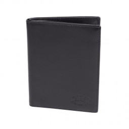 Бумажник KLONDIKE Claim, натуральная кожа в черном цвете, 10 х 1 х 12,5 см \ KD1103-01