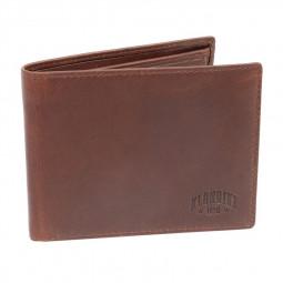 Бумажник KLONDIKE Dawson, натуральная кожа в коричневом цвете, 12 х 2 х 9,5 см \ KD1119-03