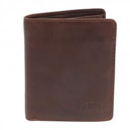 Бумажник KLONDIKE DIGGER «Cade», натуральная кожа в темно-коричном цвете, 12,5 x 10 x 2 см \ KD1043-03