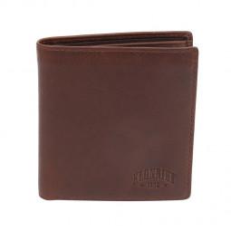 Бумажник KLONDIKE Dawson, натуральная кожа в коричневом цвете, 9,5 х 2 х 10,5 см \ KD1118-03