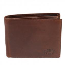 Бумажник KLONDIKE Dawson, натуральная кожа в коричневом цвете, 12,5 х 2,5 х 9,5 см \ KD1124-03