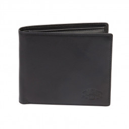 Бумажник KLONDIKE Claim, натуральная кожа в черном цвете, 12 х 2 х 10 см \ KD1106-01