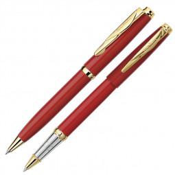 Набор: ручка шариковая + роллер Pierre Cardin PEN and PEN. Цвет - красный. \ PC0923BP/RP