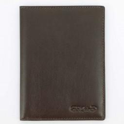 Обложка для паспорта S.Quire, коричневая, гладкая \ 5400-BR VT