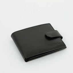 Портмоне S.Quire, черное, гладкое \ 5200-BK VT