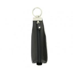 Ключница S.Quire, натуральная воловья кожа, черный, наппа, 19x6,5 см \ 4800-BK Soft