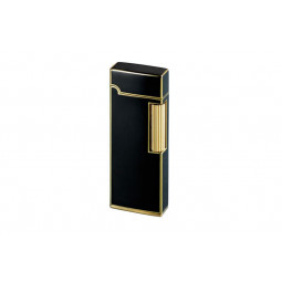 Зажигалка газовая Sarome SD9 Brass 5-Side Black Lacquer \ SR SD9-40
