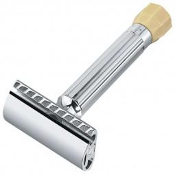 Станок Т-образный для бритья с регулировкой угла наклона лезвия серебристый MERKUR \ 90500001