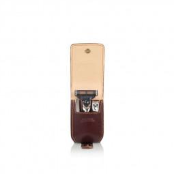 Бритвенный дорожный мини-набор в кожаном чехле 3 пр. MONDIAL \ SV-075-MIN-M
