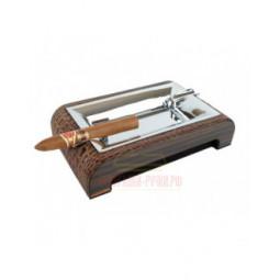 Пепельница настольная Gentili Brown Croco \ 930-Croco-Brown