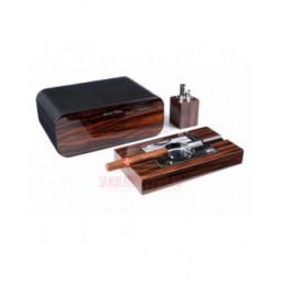 Настольный набор сигарных аксессуаров Gentili \ SET-SV40-LE-Black
