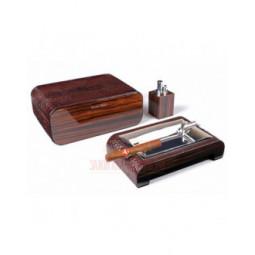 Настольный набор сигарных аксессуаров Gentili \ SET-SV40-LE-Croco-Dark