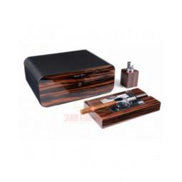 Настольный набор сигарных аксессуаров Gentili \ SET-SV75-LE-Black