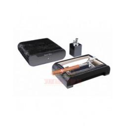 Настольный набор сигарных аксессуаров Gentili \ SET-SV20-Croco-Black