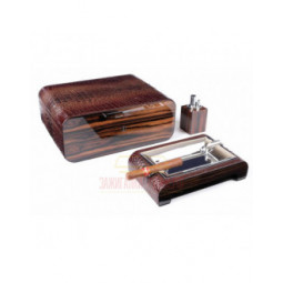Настольный набор сигарных аксессуаров Gentili \ SET-SV75-Croco-Dark