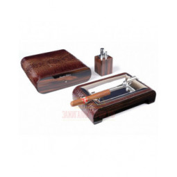 Настольный набор сигарных аксессуаров Gentili \ SET-SV20-Croco-Dark